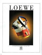 ▬► PUBLICITE ADVERTISING AD Sac Bag LOEWE 1992