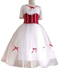 Mary Poppins Jolly Holiday Adult Women White Fancy Disneybound dress Size Medium