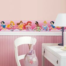 New Pink Disney PRINCESS BORDER Wallpaper Wall Decals Girls Bedroom Wall Decor