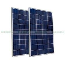 2x 100W 12V PV Solar Panel 200W Module for RV Home System Camping Hiking Car