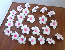 "Set of 24 Artificial Foam Flowers 2.3"" (6 cm) Pink Plumeria Heads"