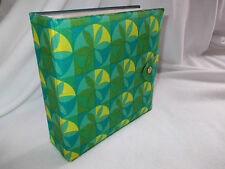 """FAB RETRO 1970's  GREEN/YELLOW 7"""" RECORD WALLET HOLDER"""