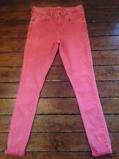 Topshop Moto Skinny Jeans Leigh Pink Sz 10 W28 To Fit L30 *235