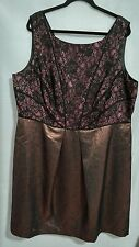 Adrianna Papell Woman Plus 22W Lovely Black/Bronze Cocktail Festive Dress NWOT