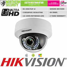 HIKVISION DS-2CD2752F-IZ 5MP 2.8-12MM AUTOFOCUS POE SD-CARD DOME IP CAMERA CCTV