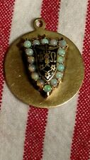 Vintage 14K Military Charm W/opals