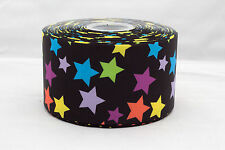 "Rainbow Stars 3"" 75mm Grosgrain Ribbon"
