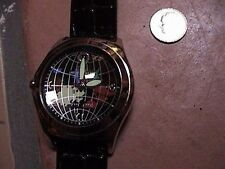 paul jardin world map mens wrist watch for parts or repair