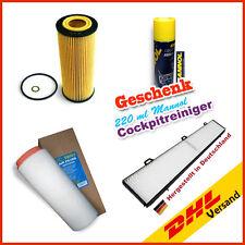 Innenraumfilter + Luftfilter + Ölfilter BMW 3er E90 E91 318d 320d + Geschenk