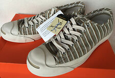 new Converse Jack Purcell Signature Sneaker Stripes Tennis Shoes Men's 8 Ni