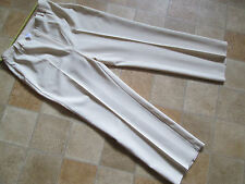 Slimma size 16 trousers - cream polyester