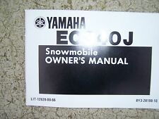 1984 Yamaha Snowmobile EC340J Owner Manual  MORE SNO-MO IN OUR STORE  S