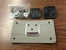 CURVED CHROME LAY DOWN LICENSE PLATE MOUNT FOR HARLEY DAVIDSON MODELS