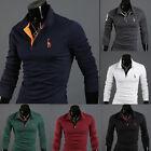 Neu Herren Slim Poloshirt Freizeit Poloshirt Kurzarm Tee T-Shirts Fit Hemd M-3XL