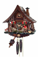 cuckoo clock black forest 1 day  german wood fisherman mechanical new