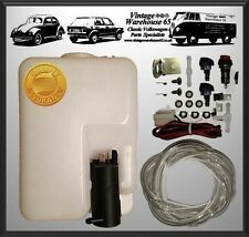 Vw Golf Mk1 Mk2 Mk3 Gti 12v Universal Windscreen Washer Bottle & Jet Kit