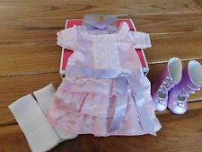 AMERICAN GIRL SAMANTHA  FRILLY FROCK-COMPLETE NEW  IN BEFOREVER BOX