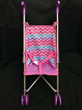 Umbrella Stroller for Doll New Doll Strollers W/Fabric Seat 25 X 4 GUC