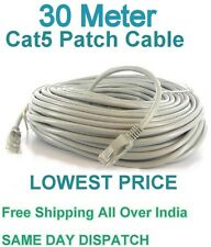 30M METER RJ45 CAT5E ETHERNET NETWORK INTERNET LAN PATCH MODEM ROUTER LEAD CABLE