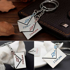 Fashion Lovers gift keychain couple Love Lettering key chain One Pair Key Ring