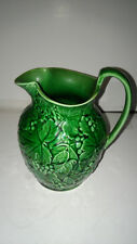 WEDGWOOD ETRURIA MAJOLICA GREEN LEAVES & GRAPES PITCHER. - 6.75""