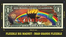 RAINBOW IMAN BILLETE 1 DOLLAR BILL MAGNET