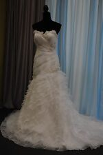 Wedding Marys Bridal Dress 6113 White Sweetheart Mermaid Ruffles Train Strapless