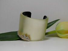 Alexis Bittar Ivory  'Lucite - Lace' Wide Cuff Bracelet.*****NEW*****