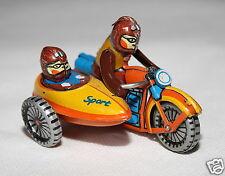 ZZ Blechspielzeug Blech Motorrad mit Beiwagen