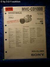 Sony Service Manual MVC CD1000 Level 1 Digital Still Camera (#4772)