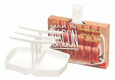 Microwave Bacon Cooker Makin` Bacon Rack Tray Maker Plate Hanging Healthy Drip