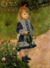 GIRL WITH WATERING CAN, RENOIR, FRENCH IMPRESSIONIST PAINTING, MAGNET