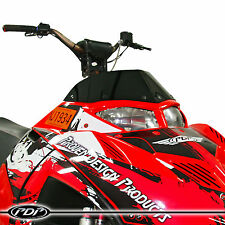 2005-2014 POLARIS IQR / IQRR Racer Snowmobile WINDSHIELD : GLOSS BLACK