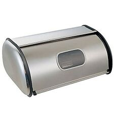 Cucina in acciaio SCONTO Home Bread Bin rotolo superiore con finestra di consegna gratuita nuovo