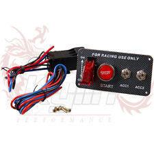 12V Ignition Switch Panel Engine Start Push Button LED Toggle for Racing Car