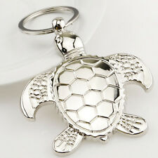 New Cute Silver Metal Turtle Tortoise Keyrings Keychain Charm Gift Collectable