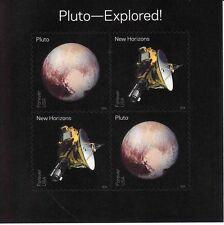 PLUTO-EXPLORED SOUVENIR SHEET -- USA FOREVER 2016 SPACE