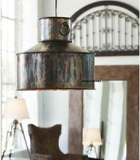 FARMHOUSE ANTIQUE VERDIGRIS COPPER LIGHT FIXTURE PENDANT KITCHEN CHANDELIER NEW