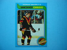 1979/80 TOPPS NHL HOCKEY CARD #53 THOMAS GRADIN ROOKIE NM SHARP!! 79/80 TOPPS