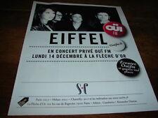 EIFFEL - PUBLICITE CONCERT PRIVE OUI FM !!!!!!!!!!!!!