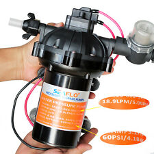 5.0 GPM DC 12V Marine Pressure Demand Diaphragm Water Pump 60PSI RV Caravan Boat