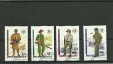 PAPUA NEW GUINEA SG671-674 50TH ANNIV WW2 CAMPAIGNS IN PNG SET CTO USED