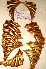 BRASS LARGE 48 X 32 mm  12 PCS  for  WINGS  LEAVES EMBELLISHMENTS PINS EARRINGS