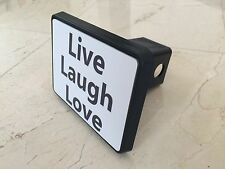 "Trailer Tow Hitch Cover Black for 2"" Receiver Track Car SUV 5X4 Live Laugh Love"