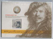 NUMISBRIEF ZILVEREN 5 EURO MUNT 2006  REMBRANDT + BLOK SASKIA € 6,45