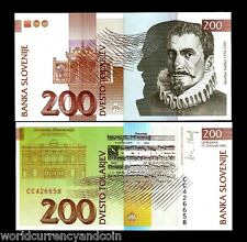 SLOVENIA 200 TOLAR P15 1992 EURO PHILHARMONIC MUSIC DRAWING UNC CURRENCY MONEY