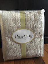 Peacock Alley KING Coverlet Stonewashed Matelasse Beige Taupe Bedspread New Bed