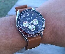 Classic Daytona Speedmaster style large automatic chronograph with NATO leather