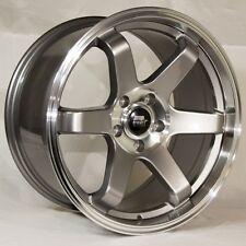 MST MT01 18x9.5 5x100 et35 Gunmetal Wheels Rims Fits Scion Frs Brz Tc Wrx