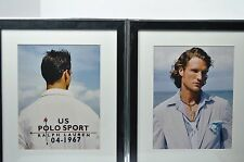 Polo Ralph Lauren Pair Framed Posters Boutique Retail Display